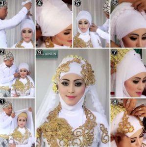 tutorial hijab akad nikah 2