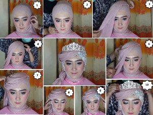 tutorial hijab akad nikah 1