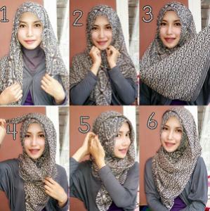 Hijab Pashmina Motif Cantik dan Anggun