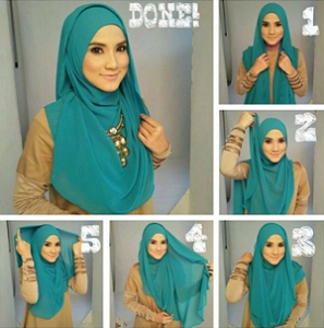 Hijab Pashmina Siffon Pesta Menutup Dada