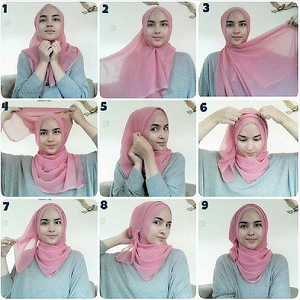 Hijab Pashmina Paris Elegan Simple