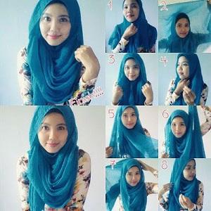 Hijab Pashmina Rawis Simple Anggun