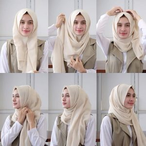 Hijab Pashmina Paris Cantik Simple