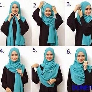 Hijab Pashmina Panjang Menutup Dada