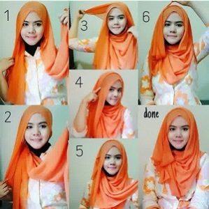 Hijab Pashmina Kaos Cantik dan Anggun