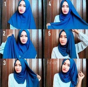Hijab Pashmina Kaos Simple Elegan