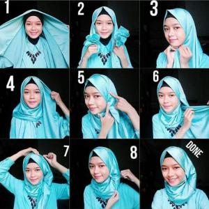Hijab Pashmina Satin Elegan dan Mudah
