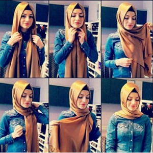 Hijab Pashmina Satin Simple Kekinian