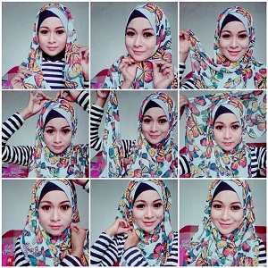 Hijab Pashmina Motif Cantik Simple