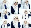 50 Tutorial Hijab Pashmina Simple, Elegan, Glamour dan Terbaru