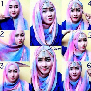 tutorial hijab ombre 2