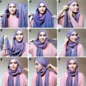 tutorial hijab lebaran 9