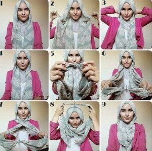 tutorial hijab lebaran 8