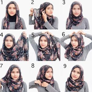 tutorial hijab lebaran 4