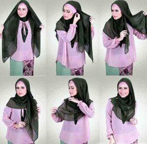 tutorial hijab lebaran 1