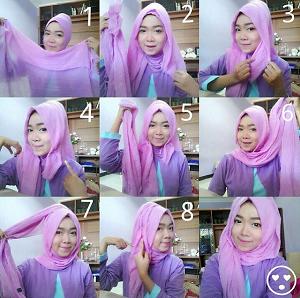 Hijab Pashmina Rawis Cantik Simple