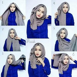 Hijab Pashmina Rawis Simple Kekinian