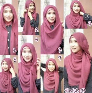 tutorial hijab syar'i untuk wisuda 4