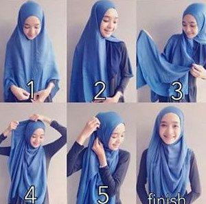 tutorial hijab syar'i untuk wisuda 3