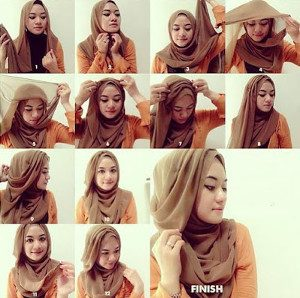 tutorial hijab menutup dada untuk kebaya 5