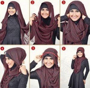 tutorial hijab menutup dada untuk kebaya 4