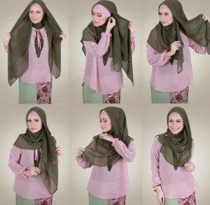 tutorial hijab menutup dada untuk kebaya 3