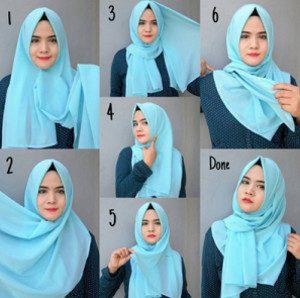 tutorial hijab menutup dada untuk kebaya 1