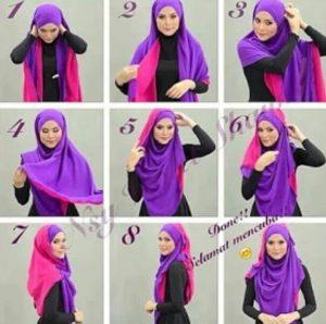 tutorial hijab syar'i untuk wisuda 2
