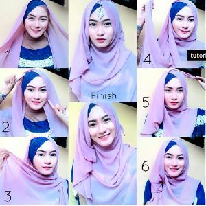 tutorial hijab syar'i untuk wisuda 1