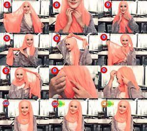 Hijab Pashmina Sifon yang Casual