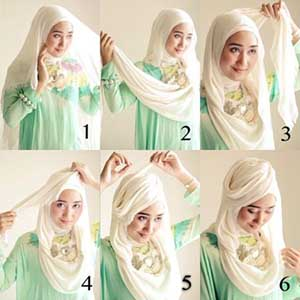Hijab Paris Head Rose