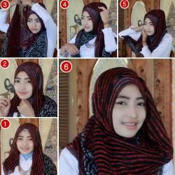tutorial hijab ala zaskia sungkar 1