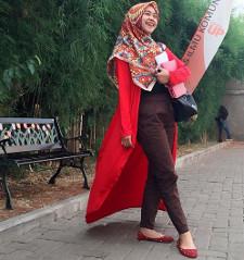 tutorial hijab ala ria ricis 17