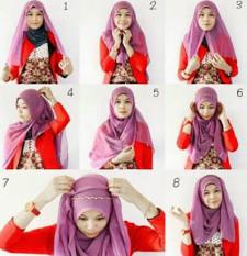 tutorial hijab ala ria ricis 9
