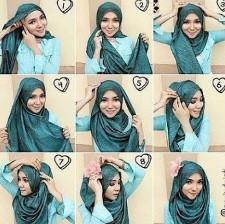 tutorial hijab ala ria ricis 8