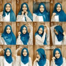 tutorial hijab ala ria ricis 7