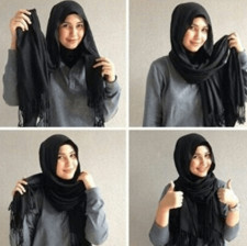 tutorial hijab ala ria ricis 6