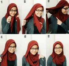 tutorial hijab ala ria ricis 5