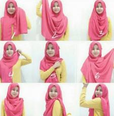 tutorial hijab ala ria ricis 4