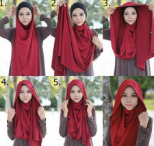 tutorial hijab ala ria ricis 2