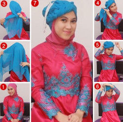 tutorial hijab wisuda untuk wajah bulat 2
