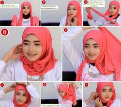 tutorial hijab wisuda untuk wajah bulat 3
