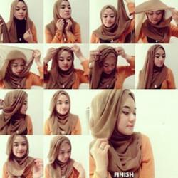 tutorial hijab wisuda untuk wajah bulat 4