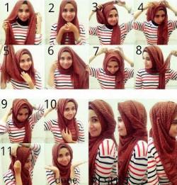tutorial hijab wisuda untuk wajah bulat 5