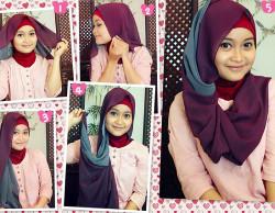 tutorial hijab wisuda untuk wajah bulat 6