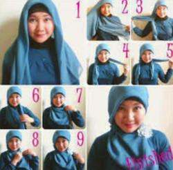 tutorial hijab wisuda untuk wajah bulat 7