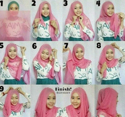 tutorial hijab wisuda untuk wajah bulat 8