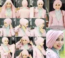 tutorial hijab wisuda untuk wajah bulat 9
