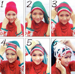 tutorial hijab wisuda untuk wajah bulat 10
