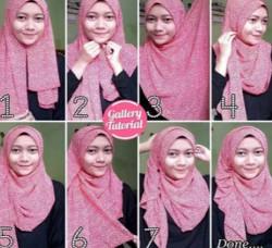 tutorial hijab wisuda untuk wajah bulat 11